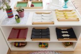 Montessori classroom dressing frames