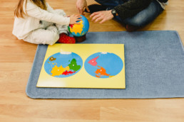 Montessori globe and world puzzle map