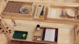 Shelf with Montessori material